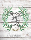 Farmhouse Decor Growth Mindset Quote Posters