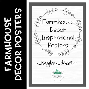 Farmhouse Decor Inspirational Posters