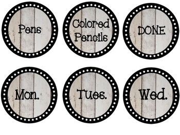 Farmhouse Decor Pack - Editable!  Labels, Binder Covers, Posters, and Banners