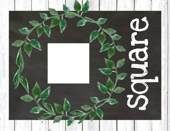 Farmhouse Decor Shape Posters