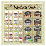~* Farmhouse Decor *~ 84 Supply Labels | 72 Classroom Jobs | EDITABLE Burlap