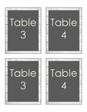 Farmhouse Decor: Table Numbers