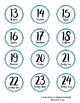 Farmhouse Decor-Turquoise Wood Numbers