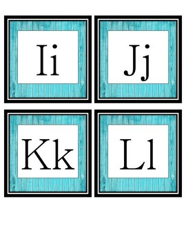 Farmhouse Decor-Turquoise Wood Word Wall Labels