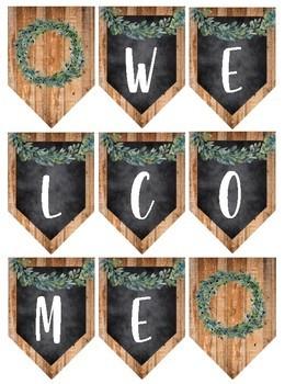 Farmhouse Decor: WELCOME BANNERS