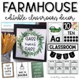 Farmhouse Classroom Decor | Editable Bundle