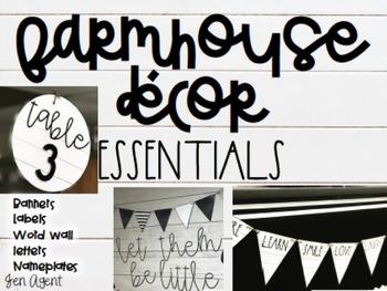 Farmhouse Decor {essentials}
