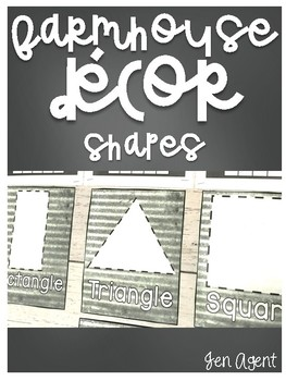Farmhouse Decor {shapes poster}