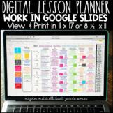 Farmhouse Digital Lesson Planner using Google Slides Free Lifetime Updates