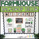 Farmhouse Distance Learning Backdrop Decor