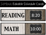 Farmhouse EDITABLE Schedule Cards