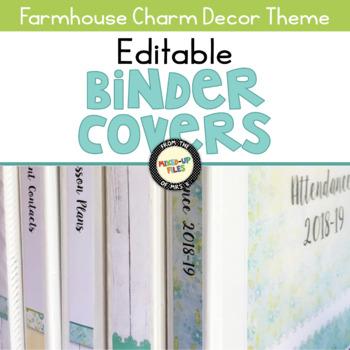 Farmhouse Editable Binder Covers