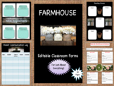 Farmhouse Editable Classroom Forms