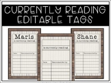 Farmhouse Editable Currently Reading Tags