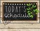 Farmhouse Editable Daily Schedule - Brown Shiplap