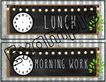 Farmhouse Editable Daily Schedule - Corrugated Metal