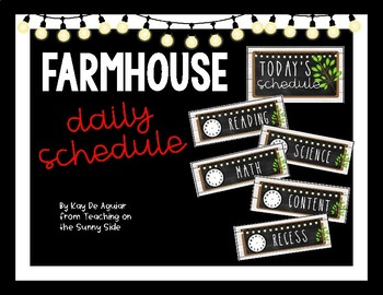 Farmhouse Editable Daily Schedule - White Shiplap