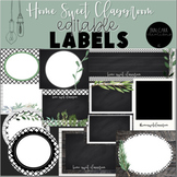 Farmhouse Editable Labels - Home Sweet Classroom Decor