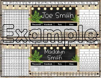 Farmhouse Editable Name Plates - Brown Shiplap