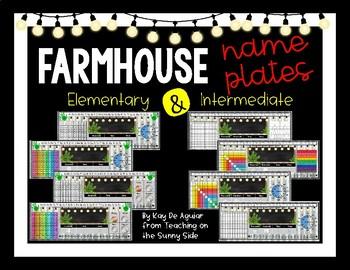 Farmhouse - Editable Name Plates - Corrugated Metal