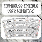 Farmhouse Editable Nametags