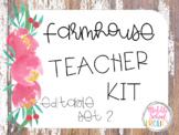Farmhouse Editable Teacher Kit - Set 2