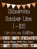 Farmhouse Theme Classroom Number Line