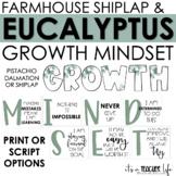 Farmhouse Eucalyptus Growth Mindset Posters   Classroom Decor