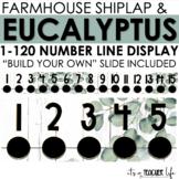 Farmhouse Eucalyptus Number Line   Classroom Decor