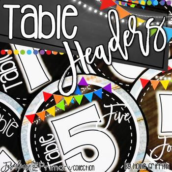 Farmhouse FLAIR Primary Table Headers FREEBIE