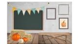 Fall Farmhouse Bitmoji Classroom