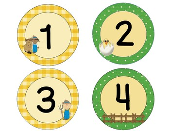 Farmhouse/Farm Animals/Country Labels - Classroom Decor - blue green yellow
