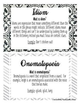 Farmhouse Figurative language Posters