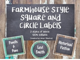 Farmhouse Fixer Upper Circle and Square Labels FREEBIE