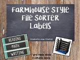 Farmhouse Fixer Upper File Sorter Labels FREEBIE