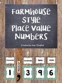 Farmhouse Fixer Upper Place Value Numbers FREEBIE