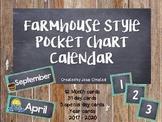Farmhouse Fixer Upper Pocket Chart Calendar