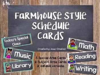 Farmhouse Fixer Upper Schedule Cards FREEBIE