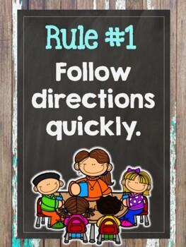 Farmhouse Fixer Upper Whole Brain Teaching Rules