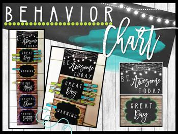 Farmhouse Flair Behavior Chart {Editable}