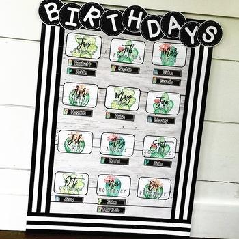 Farmhouse Flair Cactus Birthday Display