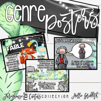 Farmhouse Flair Cactus Reading Genre Posrers