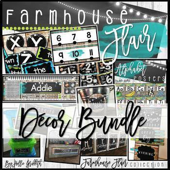 Farmhouse Flair Classroom Decor BUNDLE
