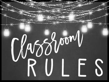 Farmhouse Flair Classroom Rules Posters {Editable}
