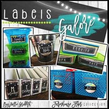 Farmhouse Flair Editable Labels {Library Labels, Supply Labels, & More}