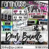 Farmhouse Flair NEON 2 Classroom Decor Bundle