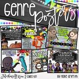 Farmhouse Flair NEON 2 Reading Genre Posters