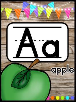 Farmhouse Flair NEON Alphabet Posters