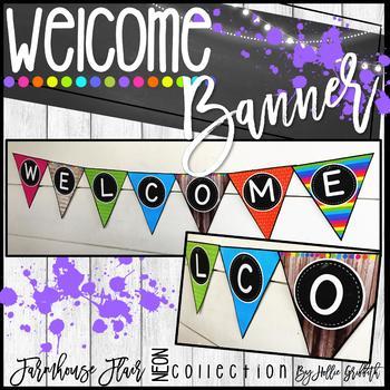 Farmhouse Flair NEON Banner