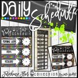 Farmhouse Flair NEON Daily Schedule {Editable}